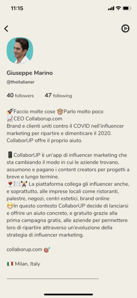 AUMENTARE follower clubhouse